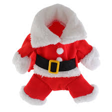 christmas pet dog cat puppy clothes santa claus costume suit xmas
