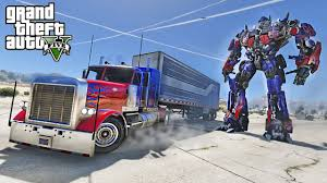 OPTIMUS PRIME DRIFT TRUCK - GTA 5 TRANSFORMERS MOD !!! - YouTube