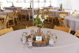 Country Style Wedding Centerpieces