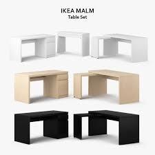 ikea malm table set 3d modell in set 3dexport