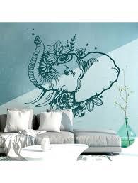 wandtattoo indischer elefant wanddeko orientalisch spirituell schlafzimmer wohnzimmer m2408