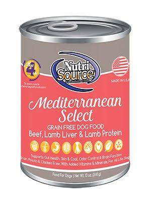 NutriSource Mediterranean Select Grain Free Dog Food 13 oz