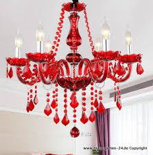 moderne rote kristall kronleuchter für wohnzimmer schlafzimmer