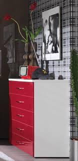 wellemoebel kleiderschrankwunder kommode rot weiß