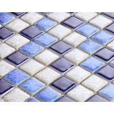 blue and white porcelain tile mosaic tiles glazed ceramic tile