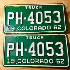 1962 Colorado Truck License Plate Matched Pair PH-4053 | License ...