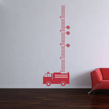 100 Fire Truck Wall Decals YOYOYU Art Home Decor Engine Growth Chart Decal
