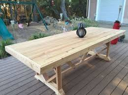 Make Your Own Outdoor Wooden Table by Best 25 Outdoor Dining Tables Ideas On Pinterest Patio Tables