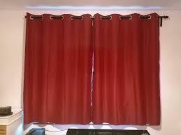 gardinen blickdicht thermo ösen wohnzimmer vorhänge weinrot