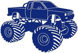 100 Monster Truck Tattoos Wall Sticker Bigfoot Wall Stickers Royal Blue 049 75