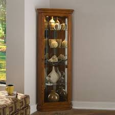 corner curio cabinet with light corner cabinets