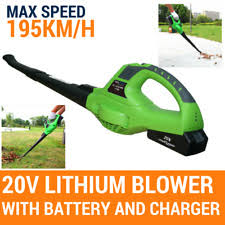 Blower 20v Cordless PRO Leaf Grass Garden 2 Speed With Battery Charger