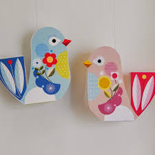 Paper Craft Birds Hanging