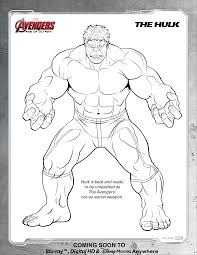 Printable Cartoon Hulk Coloring Pages For Kids
