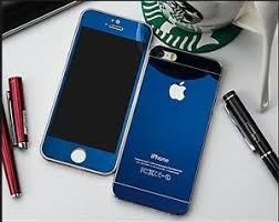 Apple Iphone 5S BLUE COLOR Tempered Glass Screen Protector FRONT