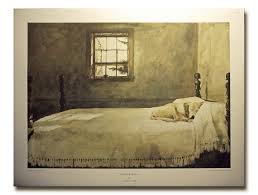 Andrew Wyeth Master Bedroom Dog Sleeping On Bed Print UNAVAILABLE