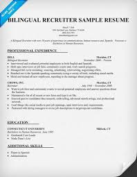 Bilingual Recruiter Resume Sample Resumecompanion