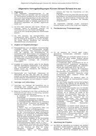 allgemeine vertragsbedingungen küchen verband schweiz kvs asc