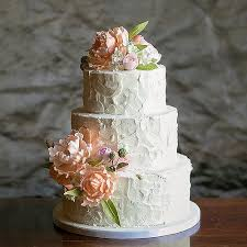 Rustic Buttercream Wedding Cake With Hand Sculpted Gumpast