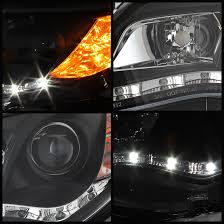 2013 toyota camry led drl projector headlights black