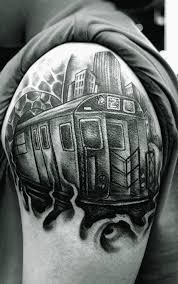 2 Train Tattoo By Ces