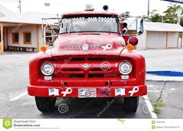 Old V8 Ford Fire Truck South Carolina Usa Editorial Image - Image Of ...
