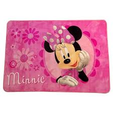 Disney Minnie Mouse Multicolor Non Slip Polyester Kids Area Rug 4