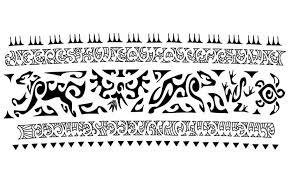 Superb Maori Tribal Armband Tattoo Stencil Design