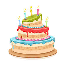 Download Sweet Birthday Cake With Candles Stock Vector Illustration of flame fluid