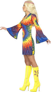 Amazon Smiffys Womens 1960s Tie Dye Dress Costume Clothing