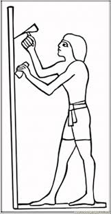 Ancient Ehyptian Worker Coloring Page