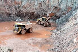 100 Earth Mover Truck Quarry Mine Of Porphyry Rock Mover Loading A Dumper