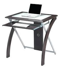 desk glass and black metal corner computer staples small uk