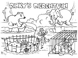 Special Zoo Coloring Page Perfect Ideas