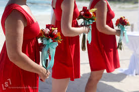 Red White Aqua Wedding Colors