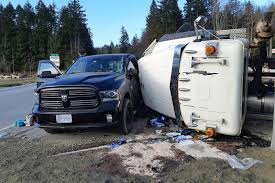 100 Dump Truck Drivers Truck Driver Hurt After Highway Crash In Ladysmith Nanaimo