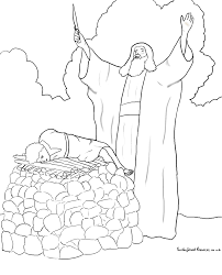 Abraham fers Isaac Coloring Page
