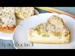 rhabarberkuchen mit schmand streusel traum kombi
