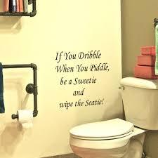 Funny Bathroom Door Art by Removable Waterproof Sticker Inspirational Vinyl Wall Decals For