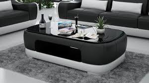 leder couchtisch moderner tisch glastisch design tische glas wohnzimmer