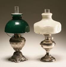 Aladdin Kerosene Lamp Model 23 by Two Nickel Silver Oil Lamps Bradley U0026 Hubbard And Aladdin Model 4