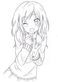 ANIME ART Anime Girl School Uniform Seifuku Sailor