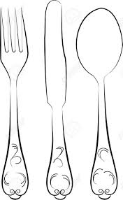 Fork spoon and knife Knife And Fork Drawing