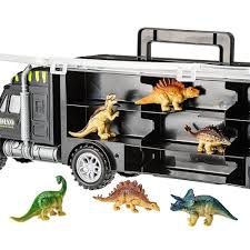 100 Dinosaur Truck Tractor Trailer Toys Collectibles Case D