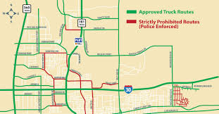 100 Truck Route Map Approved S North GP City Of Grand Prairie