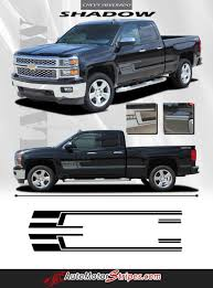 100 Truck Door Decals 20142018 Chevy Silverado Shadow Lower Vinyl Graphics