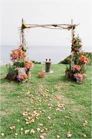 Rustic Chic Floral Spring Wedding Arches Simple Orange And Pink Stylish
