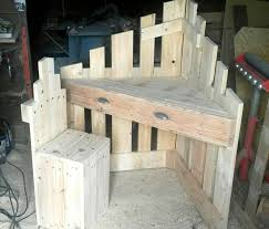 Wooden Pallet Sectional Desk And Chair For Kids
