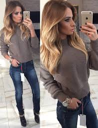 Sweater Warm Fall Outfits Winter Girly Tumblr Beige Knitted Cute Sweaters