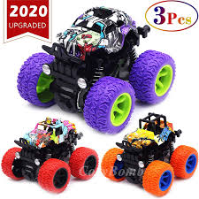 100 Kids Monster Trucks Toys For Boys Friction Powered 3Pack Mini Push And Go Car Truck Jam Playset For Boys Girls Toddler Aged 3 4 5 Year Old Gifts For
